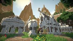 The hidden town of Felenril - An elven inspired build Minecraft Project