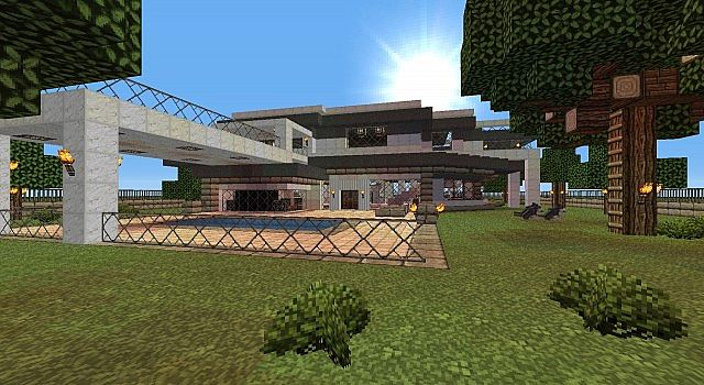 Medium Size Modern House Minecraft Project