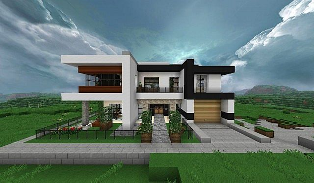 Modern house minecraft project - Minecraft design house ...