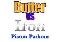 Butter VS Iron Piston Bow Parkour! [MINI-GAME] Minecraft Project