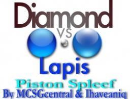 Diamond VS Lapis Piston Spleef! [Mini-Game] Minecraft Project