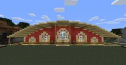 Half rounded roof house Minecraft Project