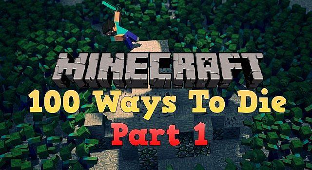 100 funny ways to die in minecraft