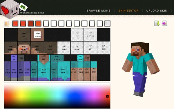 Делать скины для Minecraft