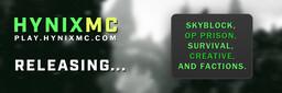 HynixMC | OP Prison | Factions | Skyblock | Creative | Survival | 1.8-1.16 Minecraft Server
