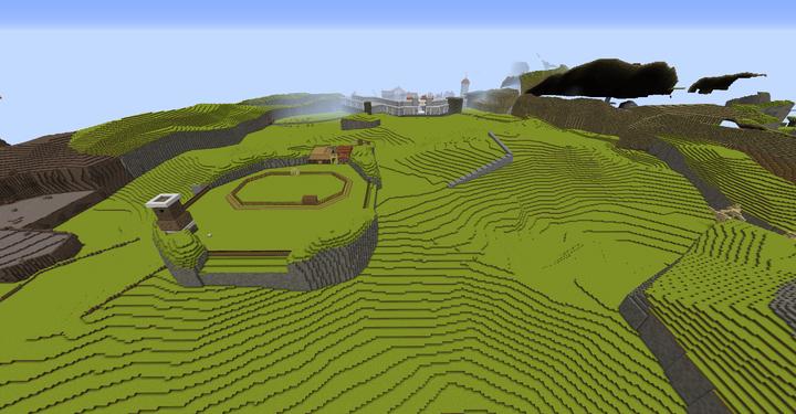 Hyrule Field with Lon Lon Ranch
