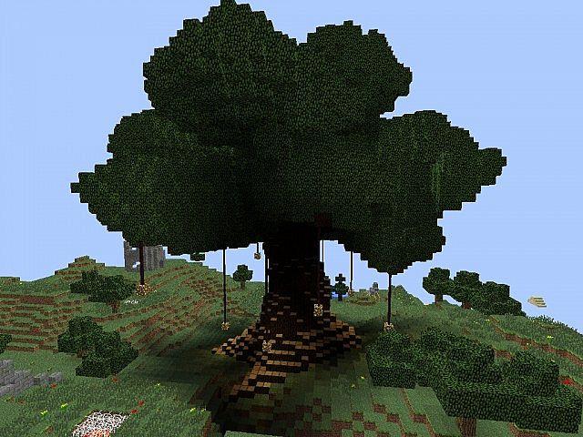 Building Giant Tree Minecraft World Edit