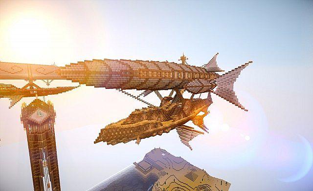 Steampunk Airships Battle my Steampunk Airship Minecraft