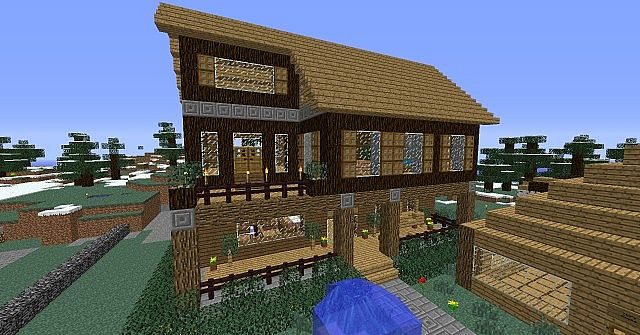 Cabin With Porch Minecraft Project