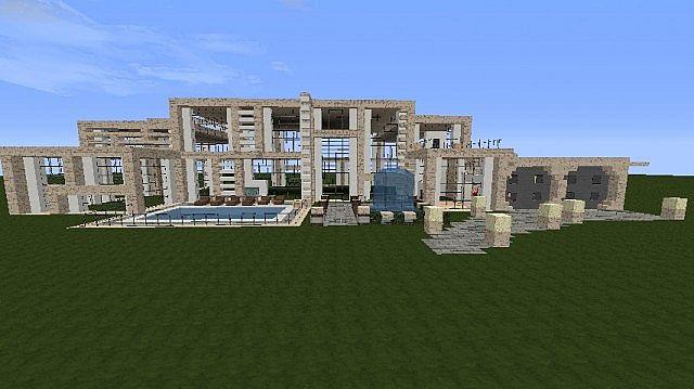 modern mansion exterior done minecraft project