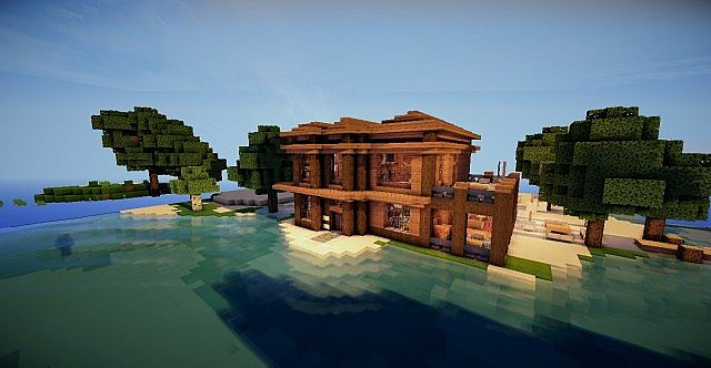 Lakeside house minecraft project for Lakeside home