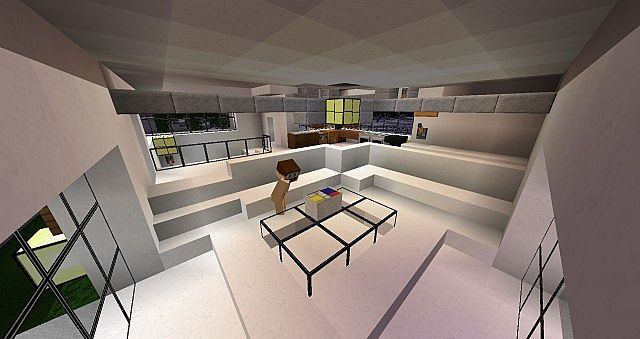 Modern house double complex schematic minecraft project - Table d alchimie minecraft ...