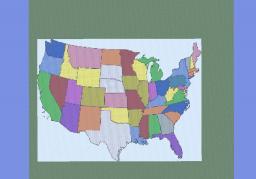 U.S.A. Map Minecraft Project