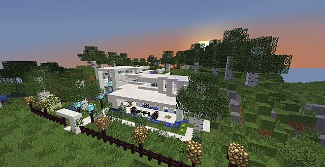 Modern Quartz House Minecraft Project