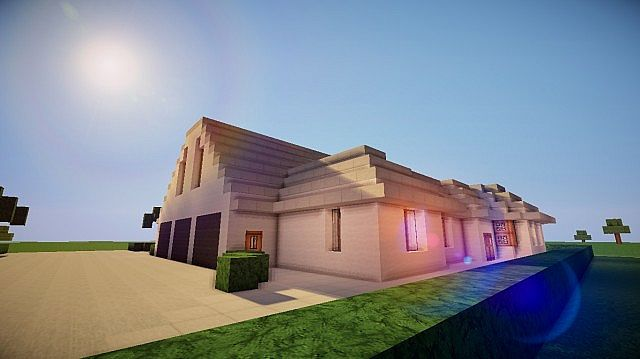 Lush Modern Home Minecraft Map