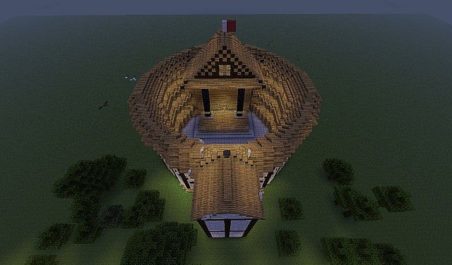 The Globe Theater Hand Built Minecraft Project