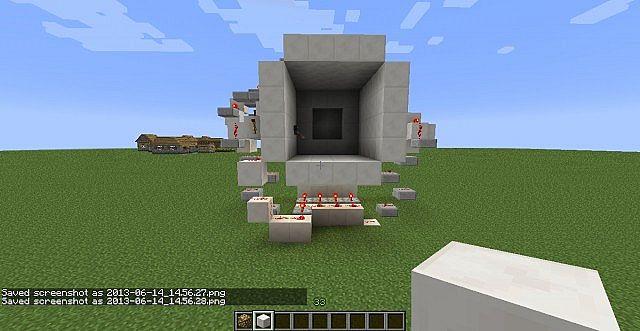 4x4 piston vault door Minecraft Project