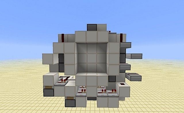Seamless 3x3 piston door minecraft project for Porte 3x3 minecraft