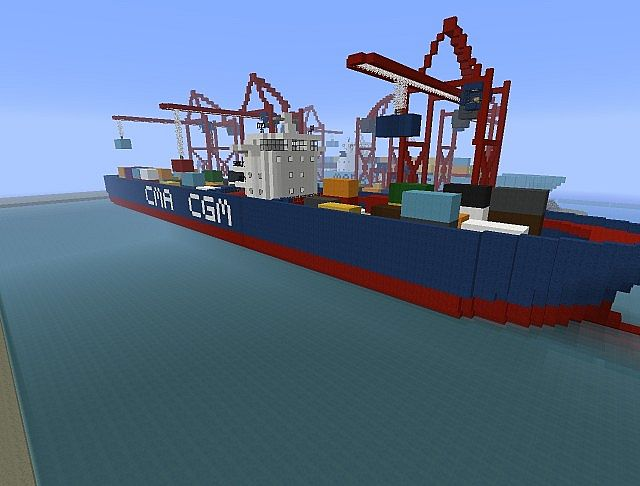 How to build a cargo ship in minecraft pe 1.0.0