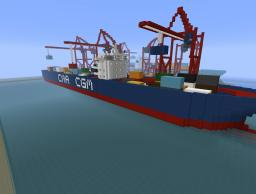 Cargo Ship - CMA CGM Style Minecraft Map & Project