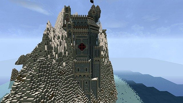 Castle mountain minecraft project for How to build a house in a mountain