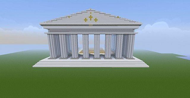 The Parthenon Quartz Minecraft Project