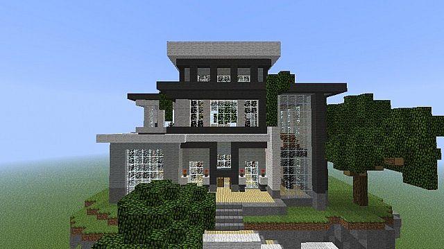 Modern house schematic minecraft project for Minecraft modernes haus download 1 7 2