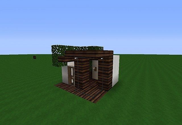 X Modern House Minecraft Project - Minecraft modern house 5x5