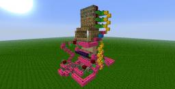 6x3 Sand & Piston Door Minecraft Map & Project