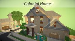 Colonial Home Minecraft Map & Project