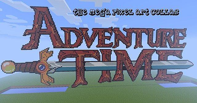 Скачать Карту Пиксель Арт для Minecraft