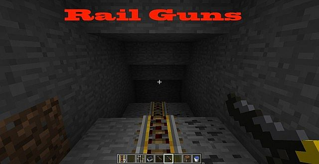 rail guns minecraft mod