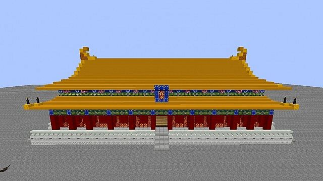 Asian Style Building #1 Dojo Minecraft Project
