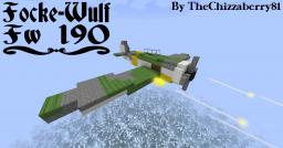 Focke-Wulf Fw 190 - WWII Fighter Plane Minecraft Map & Project
