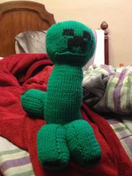 Knitted Creeper Plush [Pop Reel? POP REEL!] Minecraft Blog Post