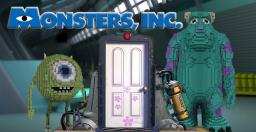 Monster, Inc. Sully and Mike Giant 3D statues Minecraft Map & Project