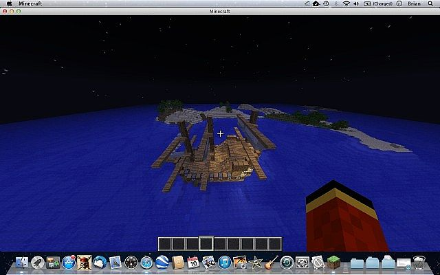 Pirate Ship Crash Island Survival Minecraft Project