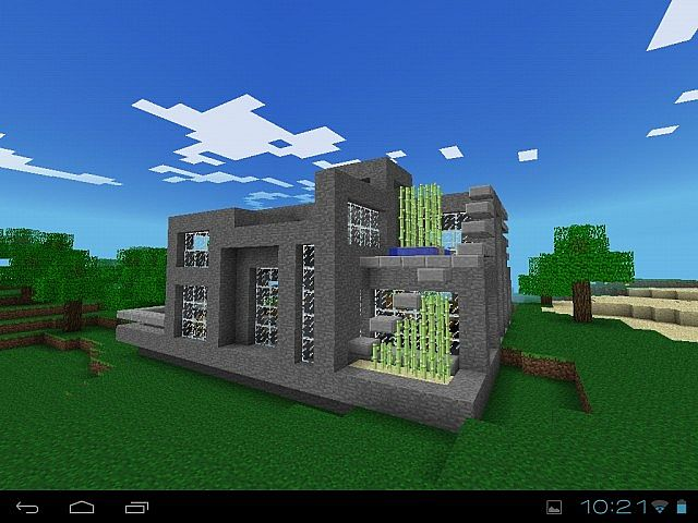 Grey Stone - Modern House | Minecraft Pocket | Minecraft ...