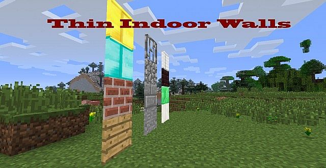 Minecraft Wall Light Mod : Thin Indoor Walls Minecraft Mod