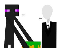 slenderman vs. enderman Minecraft Blog Post