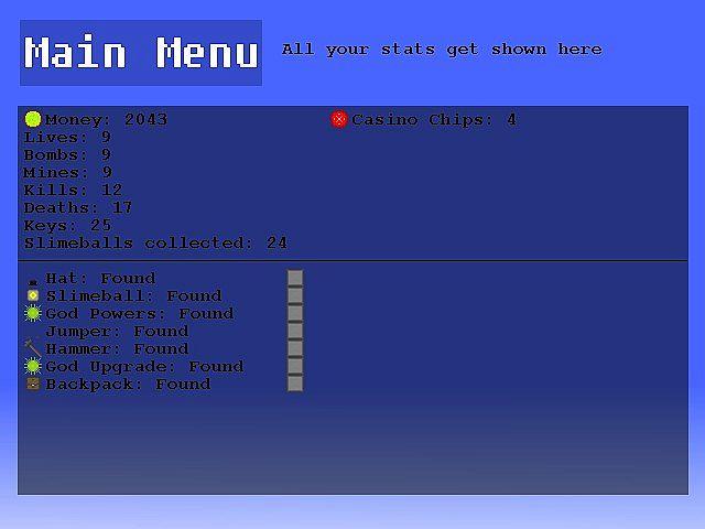 Stats menu