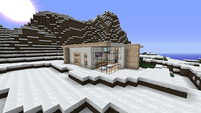 modern winter home omega minecraft project