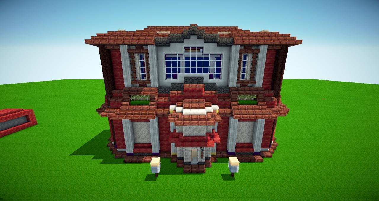 A pretty minecraft villa minecraft project for Pretty project