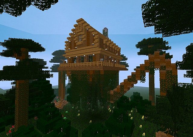 The Walking House Of Fangorn Minecraft Map