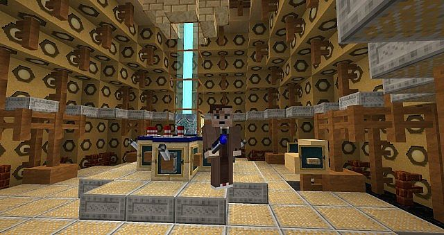 9th10th doctors tardis console room minecraft project