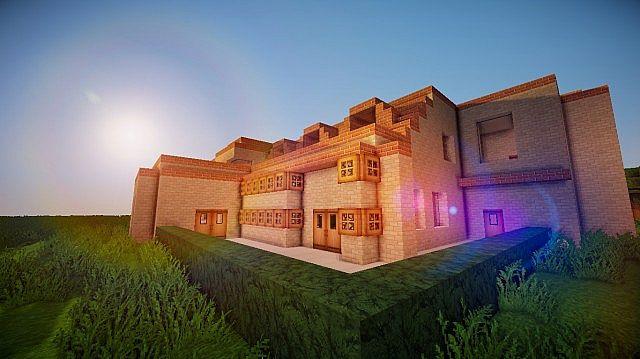 Modern italian villa paradiso moderno minecraft project for Minecraft moderno