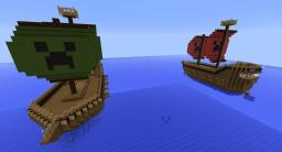 Pirate ships (Real Working TNT cannons) Minecraft