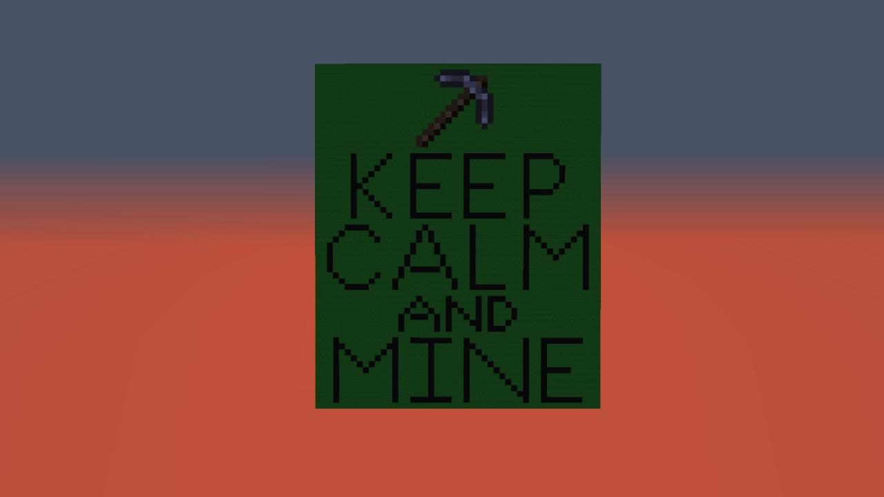 Keep calm and minecraft diamonds