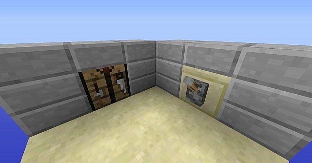 Hidden Crafting Table Redstone Minecraft Map