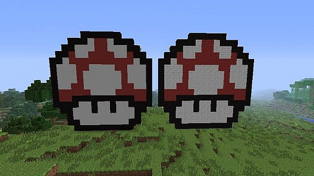 pixel art made of normal wool and smooth wool